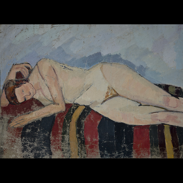 Nude on oriental carpet